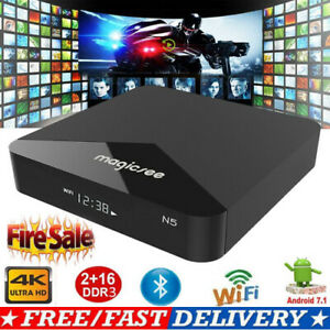 MAGICSEE N5 Android TV OS TV Box Android 7.1.2 2GB+16GB 2.4G+5G WiFi BT4.1 4KHD