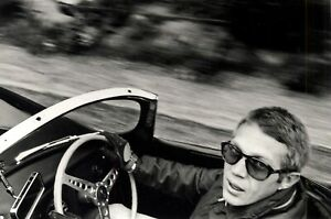 Steve McQueen Jaguar XKSS. Stunning & iconic photo William Claxton. Large Size.
