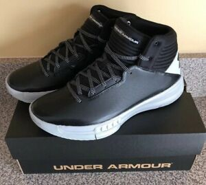 New! Under Armour Lockdown 2 Size 10 Basketball Shoes UA 1303265-003 Black Grey