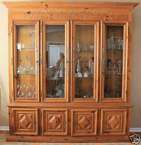 Vintage 1970s Century Furniture Dining Room Set with Amazing China Cabinet Nice