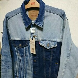New Levi's Denim Trucker Blue Jeans Jacket XL Size World Only 90 Rare