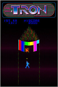 Tron Authentic Arcade Marquee 24x36 Bally Midway Video Game Giclee Art Poster $24.99