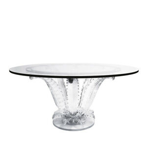 LALIQUE Cactus round table Clear crystal 1030200