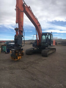2012 Hitachi ZX 210LC-13 2017 Sonic Side Grip SP50 Pile HammerExtractor 104 Hrs
