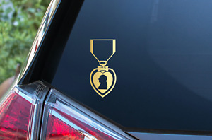 Purple Heart Decal Sticker Combat Wounded Medal Army Navy Marines