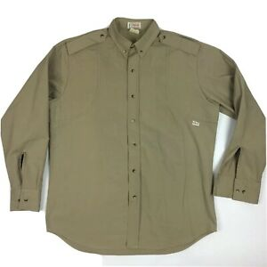 Orvis Hunting Shirt Button Front Long Sleeve Hunting Camping Heavy Duty Large