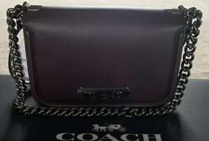 COACH SWAGGER OXBLOOD LEATHER SHOULDER BAG CROSSBODY PURSE F54640 MSRP$450 NWT