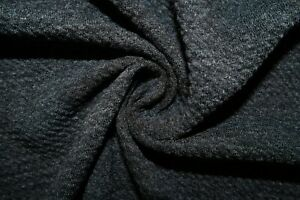 2-Tone Charcoal #95 Bullet Double Knit Stretch Poly Rayon Spandex Fabric BTY