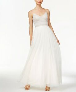 Adrianna Papell Beaded A Line Gown MSRP $349 Size 14 # 3B 587 Blm $32.99