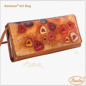 Designer Bambas Art Hand Painted Engraved Shoulder Crossbody Clutch Bag