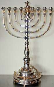 Rare Yossi Swed Sterling Silver Menorah  Judaica Extremely limited