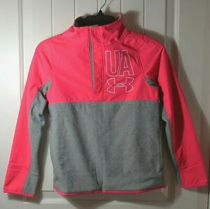 NWT GIRLS KIDS YOUTH UNDER ARMOUR PINK LONG SLEEVE HOODIE JACKET SZ SM YM YL
