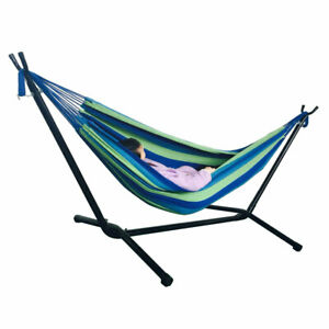 Portable Suspension Hammock Swing Polyester Set for Outdoor Camping Holiday US