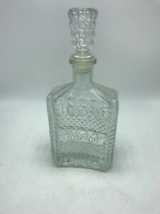 Decanter Crystal Glass Liquor Bottle with Stopper Scotch Bar Whisky Vintage 10