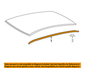 TOYOTA OEM 12-17 Camry Roof-Drip Molding Right PASSENGERS SIDE 7555506080