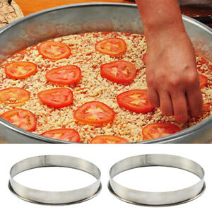 10inch 12inch Professional Kitchen Bakeware Pizza Saucing Ring for Pizza Pan