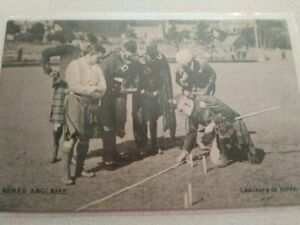 Vintage English Army scottish real photo post card Heavy Lancers
