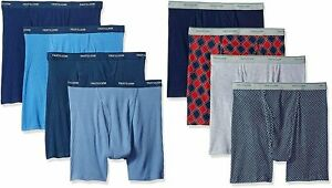 Fruit of the Loom Men's Boxer Briefs Sizes 2X-3X 8-Pack Assorted Cotton