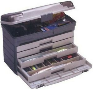 Plano 757-004 4 Drawer Tackle Box with Top Accessories