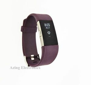 Fitbit Charge 2 Heart Rate Fitness Sleep Tracker Plum Large Grade A