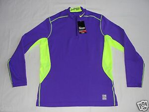 Nike Pro Combat 1/4 Zip Fitted Shirt Men's Large Purple 543596 531 New See Photo