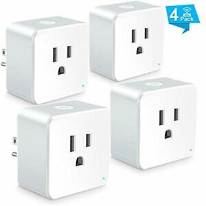 Outlet Switches Wsiiroon WiFi Smart Plug Upgraded Mini Remote Control Socket -
