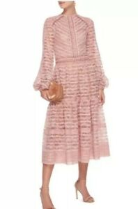 Stunning Costarellos Pink Lace Designer Dress BNWT 1214 Was £1675 Wedding Party