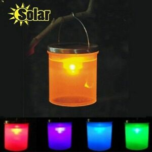 Solar Led Lights Lantern Camping Hanging Lamp Outdoor Decor Emergency Lamps