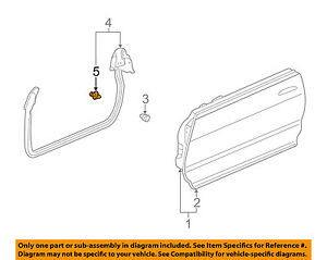 Acura HONDA OEM 94-01 Integra Front-Door Weather Strip Clip 90001SG0003