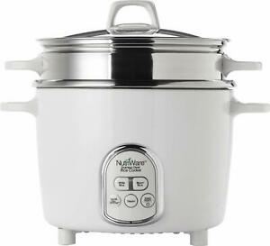 Aroma Housewares NutriWare 14-Cup (Cooked) Digital Rice Cooker and Food White