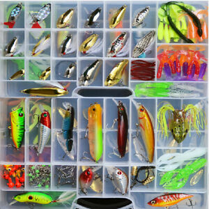 Fishing tackle box full of 168 LURES & TONS OF FISHING ITEMS + many more NEW