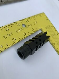 223 556 1 2x28 TPI Thread Steel Shark Muzzle Brake with Crush Washer