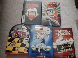 SPEED RACER 1 2 3 4 5 VOLUMES COMPLETE SERIES DVD NEW ORIGINAL RELEASE SLIPCOVER