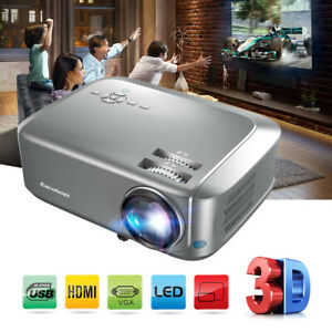 Excelvan BL68 Red-Blue 3D 1080P Home Theater Projector HDMI VGA USB 7000 Lumen