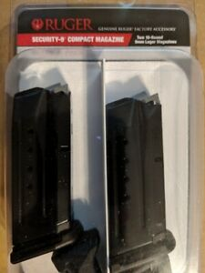 RUGER Security 9 Compact 9mm 10 Round Magazine OEM Value 2 Pack 10rd Mag 90686