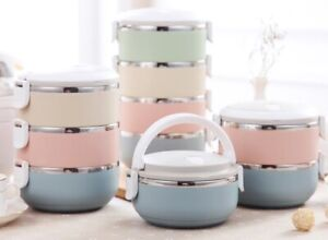 Japanese Lunch Box Thermal For Food Bento Box Stainless Steel Gradient Color