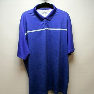 Nike Golf Dri-Fit SS Men's XL Golf Shirt Purple wBlue white stripes