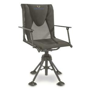 360 Swivel Hunting Blind Chair with Armrests Extra Padding 300 Lb Weight Limit