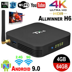 TX6 H6 TV BOX 4GB+32GB Android 9.0 Quad Core BT 4.1 WiFi 5G 3D Home Media Player