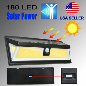 1000lm 180 COB LED Solar Wall Light Outdoor Garden Security Lamp Motion