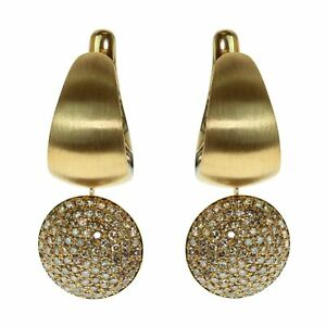 Mousson Diamonds Colored Enamel 18 Karat Yellow Gold Kaleidoscope Earrings