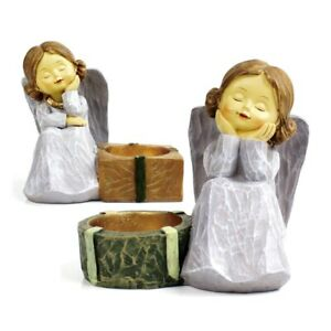 Decorations Candle Holders Fairy Statues & Sculptures 2 Pieces/set