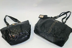 BEBE Sport Quilted Black Big Leather Bag Purse Overnight Travel NWT Weekender