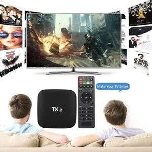 TX2 2GB+16GB Smart TV Box RK3229 3D 2.4GWIFI Android 6.0 Home Media Player US