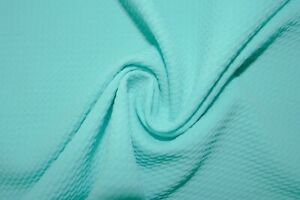 Aqua #103 Bullet Double Knit Stretch Polyester Lycra Spandex Fabric BTY