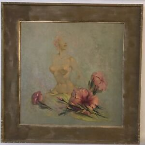 ALEXANDER CANEDO MID CENTURY NUDE SURREALIST PAINTING OIL SIGNED PROVENANCE $14999.99