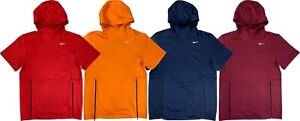 Nike Mens Dri-Fit Therma-Fit Short Sleeve Team Training Hoodie Shirt 908349 New