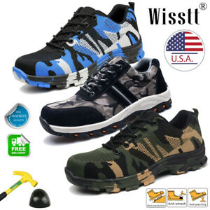 Men's Indestructible Bulletproof Safety Military Work Shoes Lightweight Sneakers