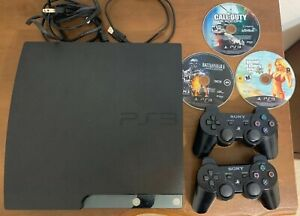 Sony PlayStation 3 PS3 120GB Slim Console System Bundle - 2 Wireless Controllers