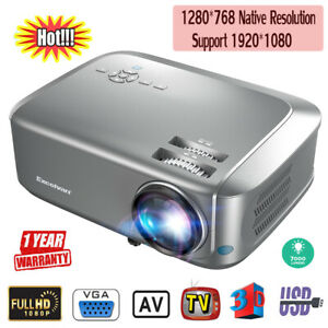 Excelvan Home Theater Projector Supports Red-blue 3D 1080P Videos HDMI VGA USB